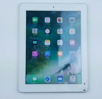 """Apple iPad 4th Gen. (A1458) 16GB - White (WiFi Only) 9.7"""" Cracked Screen Q6245"""