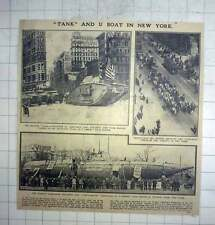 1917 New York Fundraising Tanks, Submarine U-buy-a-bond In Central Park
