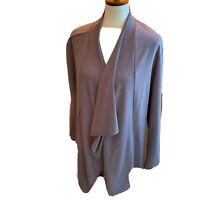 Womens LOGO Lounge by Lori Goldstein Brown French Terry Cardigan Size XL