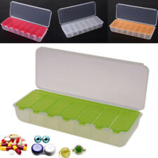 Large Travel Pill Cases Portable 7-Day Tablet Storage Organizer Container Case