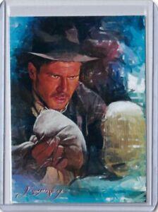 SPT7 Indiana Jones #1 Harrison Ford  Art Sketch Card Signed by Artist 49/50