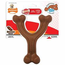 Nylabone Power Chew Textured Bison Flavored Large Sized Wishbone Toy for Dogs