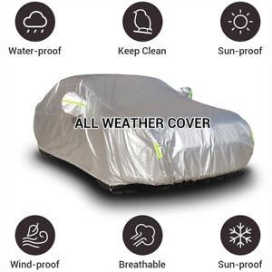 Waterproof Full Sedan Car Cover Breathable Sun UV Rain Dust Resistant Silver US