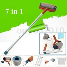 7Pcs Paint Roller Brush Handle Flocked Room Wall Easy Painting Runner Decorative