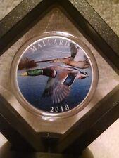 National Rifle Association 1oz. .999 Pure Silver Colorized Mallard Duck Round