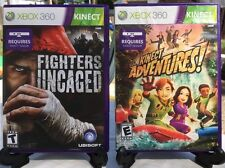 Fighters Uncaged & Kinect Adventures Xbox 360 Video Game Lot Fast Ship