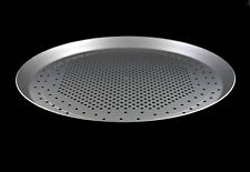 "Round Thin Crust Pizza Pan Crisper 10"" 25cm Anodized Aluminium"