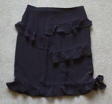 Ladies / Womens Black Chiffon Skirt by AMAYA ARZUAGE (Spain) Size 10 New Unworn