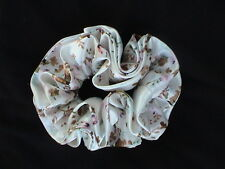 COLORFUL SILKY FLORAL PONYTAIL HOLDER - PRETTY! UNIQUE! NEW! COMBINE SHIPPING!
