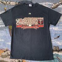 Men's Medium Navy Blue 2006 Minnesota Twins Baseball Division Champions T-Shirt