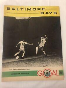 1968 BALTIMORE BAYS vs TORONTO FALCONS Program DAVID PRIMO Lincoln PHILLIPS NASL