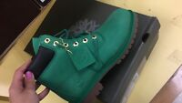 NEW KIDS/JUNIORS TIMBERLAND 6 INCH BOOTS GREEN SZ 6.5 TB0A14T3 LIMITED RELEASE