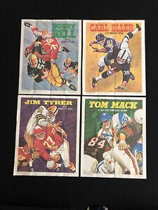 1970 Topps Football Posters lot of 4, Eller.