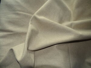 Wool material Superb quality  Pure Wool piece Oatmeal 3m x  90cms (ref W9)