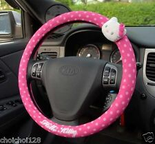 Hello Kitty Pink Dot Plush Doll Car Truck Steering Wheel Cover KK409