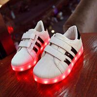 Kinder LED Licht Klettverschluss Farbwechsel Breath Schuhe Sneaker Blinkschuhe
