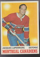 1970/71 TOPPS JACQUES LAPERRIERE MONTREAL CANADIENS CARD 52 NEAR MINT & CENTERED