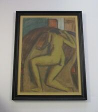 ENDRE ANDOR FENYO DRAWING ANTIQUE 1920'S ABSTRACT EXPRESSIONIST NUDE HUNGARIAN