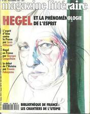 MAGAZINE LITTERAIRE N° 293 / HEGEL ET LA PHENOMENOLOGIE DE L'ESPRIT