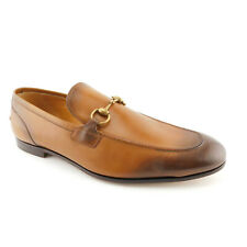 New GUCCI Size 12 UK/ 13 US JORDAAN Brown Degraded Horsebit Loafers Shoes