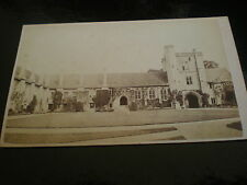 Cdv old photograph St Cross Hospital Winchester by Savage c1860s