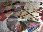 20 VtG 1920-30-40s Cotton Quilt Blocks DRESDEN BOW TIE NINE PATCH Hand Stitched