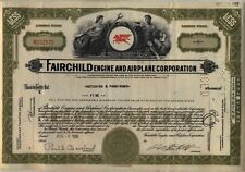 Fairchild Engine & Airplane Corporation Stock Certificate