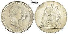 PRAGER: Österreich, Franz Josef, Doppelgulden 1854 Hochzeit, Sissi [1082]