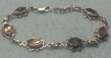 Vintage Sterling Silver and Citrine Gemstone Bracelet 925 beautiful