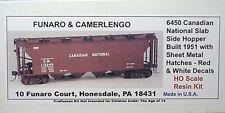 Funaro, HO CN Slab side Hopper car blt 1951 sheet metal hatches 6450