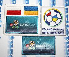 UEFA EURO 2012 POLAND-UKRAINE FOOTBALL SOCCER PATCH SET 3 BADGES