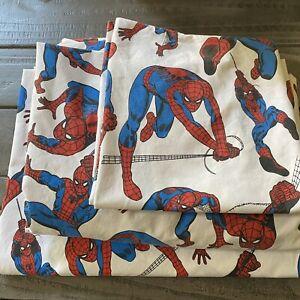 3 Pc Pottery Barn Kids 🕷Spider-Man Twin Sheet Set w Pillowcase Marvel