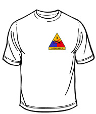 US Army 3rd Armored Division Spearhead Military T- Shirt White Size SM- XL