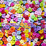 100 PCS Assorted Mixed Buttons Arts Crafts Card Making Scrapbooking Sewing 15 mm