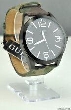 New GUESS Unisex Men Watch Camuflauge Style Leather Boys