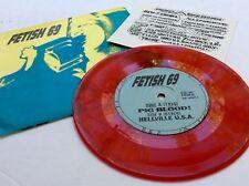 FETISH 69 ♫ PIG BLOOD / HELLVILLE USA ~ 1991 NM RED VINYL ~ NYHC ~