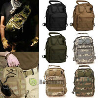 Men's Military Chest Sling Packs Shoulder Cross Body Bag Cycle Day Packs Satchel