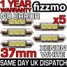 5x 37mm 3 SMD LED 239 272 C5W CANBUS NO ERROR WHITE INTERIOR LIGHT FESTOON BULB