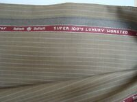 "4 yd Holland Sherry WOOL FABRIC Snowy River Super 100s SUITING 9.5 oz 144"" BTP"