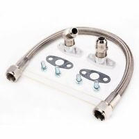 "TRITDT Turbo Oil Drain Teflon Line Kit 20"" to 10AN For Garrett T25 T28 SR20DET"