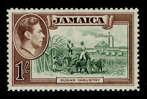 JAMAICA SG130, 1s green and purple-brown, LH MINT. Cat £14.
