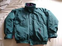 Vtg Columbia Powder Keg Jacket Mens Sz Large 4 in 1 Coat Reversible Puffer