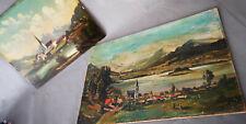 2x BILDER ungerahmt ÖLBILD Oberbayern TEGERNSEE Schliersee um 1900/20 signiert
