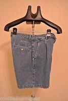 "LRL RALPH LAUREN JEAN CO BERMUDA Blue Jean Shorts Size 6 WAIST 28"" Sale!"