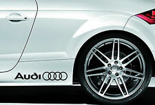 2 X AUDI Logo Rings Car Vinyl Stickers / Decals Side Skirt Graphics