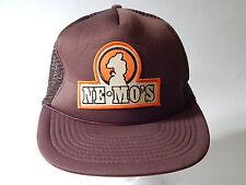 Ne Mo's Bakery Adult Brown Snapback Adjustable Baseball Cap Hat