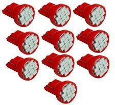 10x ampoule T10 W5W 12V 10LED SMD rouge veilleuses éclairage intérieur seuils