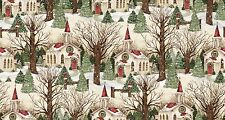 Winter Church Scenic Springs Creative 100% cotton fabric by the yard