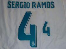 Sergio Ramos 4 2017-18 Madrid Home Iron On Name & Number Set For Football Shirt