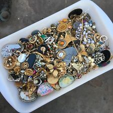 4lb Mixed Jewelry LOT Vintage to Now Bracelet Pin Necklace Rhinestone Crafts